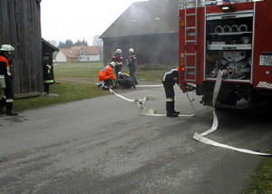 Basic training at the Nittenau Fire Department