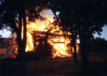 burning shed